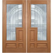 "Deco - Escon Philippine Mahogany with Raised Moulding on One Side and Zinc Caming (1-3/4"")"