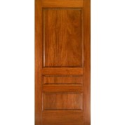 MA300 - Mahogany 3 Panel Square Top Door | ETO Doors