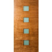 "Quadratum - 4 Square Lite Door with Laminate Glass (1-3/4"")"