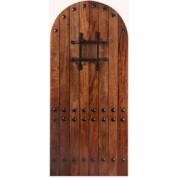 Mahogany RMA1 Rustic Arched Door with Jamb