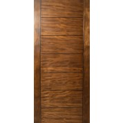 Sulcus - Multi Horizontal Plank Wood Door w/ Vertical Stiles