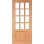 "TMCPF12 - Vertical Grain Douglas Fir Craftsman Prairie French Door 12-Lite (1-3/4"")"