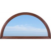 Full Round Top Transom with Clear Glass