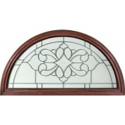 TransomFRElegant - Full Round Top Transom with Clear Beveled Elegant Glass