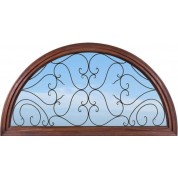 Full Round Top Transom W/ Clear Iron Glass