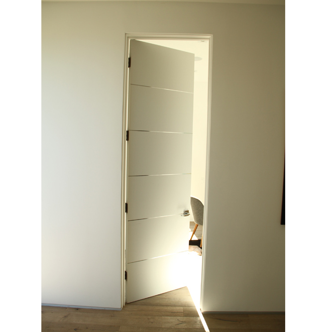 Interior White Primed Flush Door With 1/2