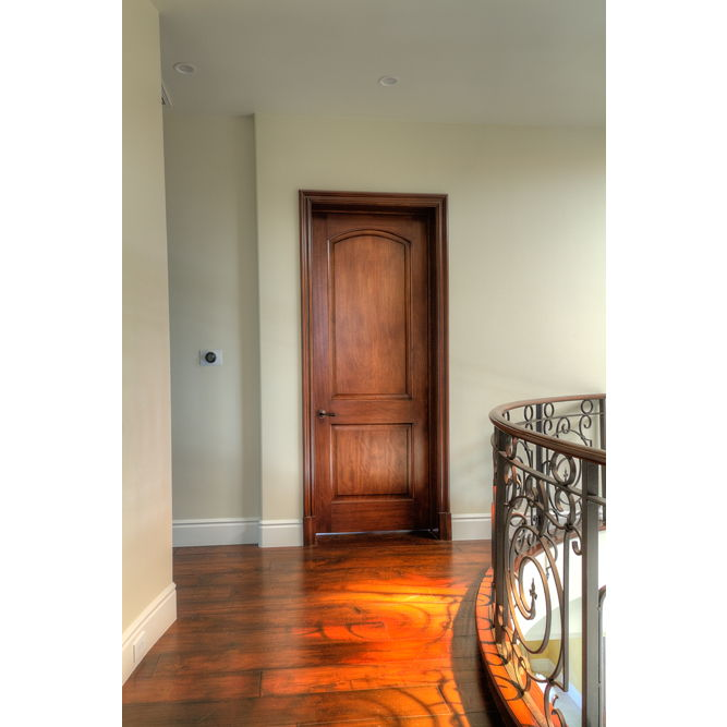 ma230 mahogany 2 panel arched door 1 3 4 most