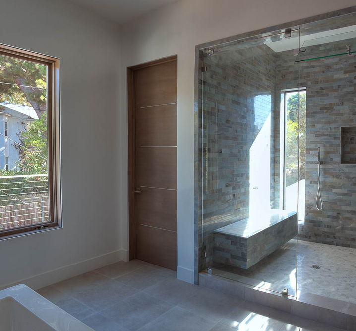 Movida Mahogany Flush Door With 1 4 Quot Horizontal 3