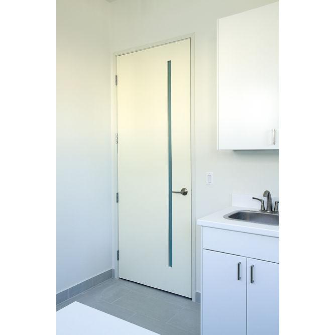 Roman - Interior White Primed Flush Door with Obscure White Lami Vertical Slim-Lite Glass (1-3/4 )  sc 1 st  ETO Doors & Roman - Interior White Primed Flush Door with Obscure White Lami ...