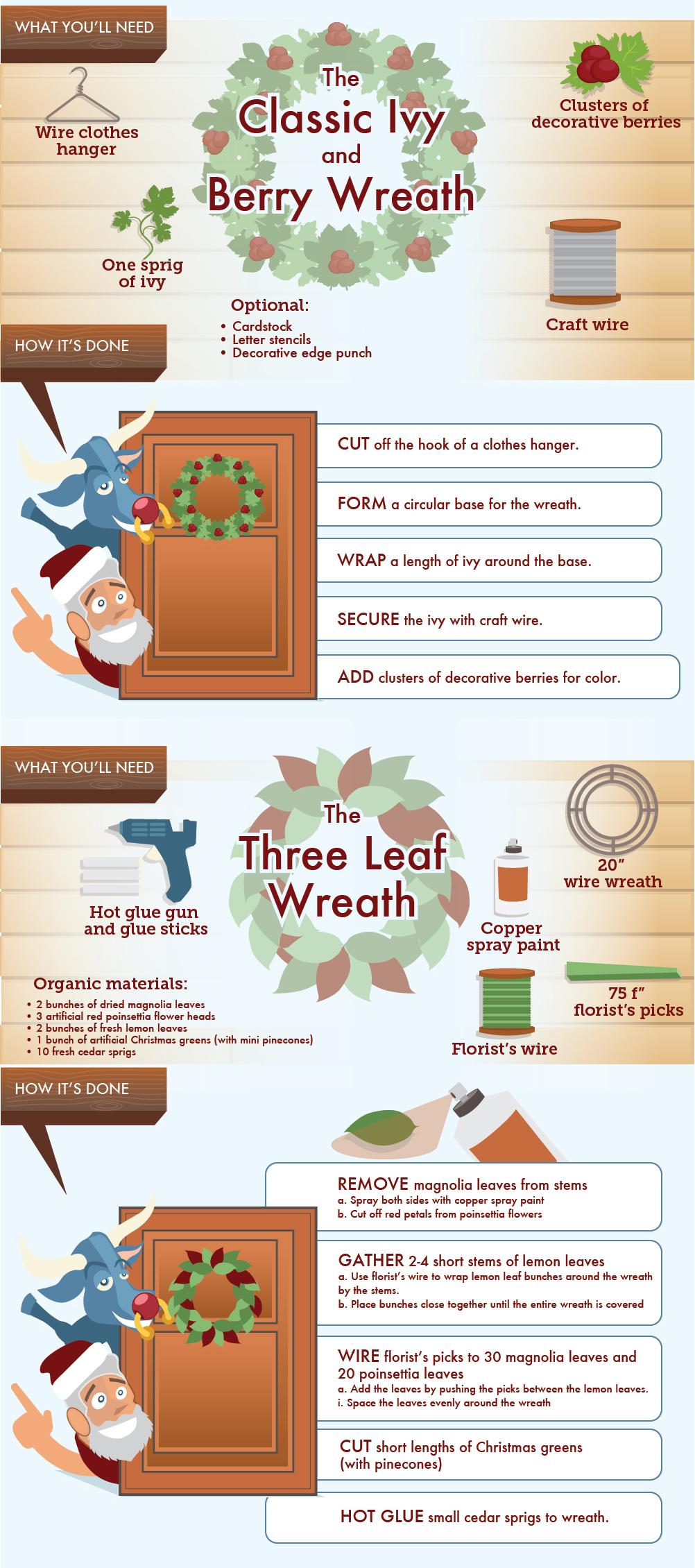 DIY Christmas Door Wreaths