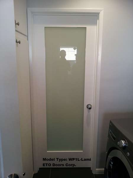 Wp1llami Interior 1 Lite White Primed With Dual White Laminated Obscure Glass Door Square