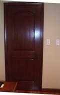 Mahogany 2 Panel Arched Door