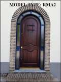 Mahogany RMA2 Rustic Arched Door with Jamb