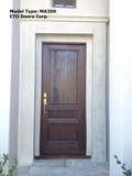 Mahogany 3 Panel Square Top Door