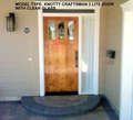 KNOTTY ALDER 3-LITE CRAFTSMAN DOOR WITH CLEAR GLASS