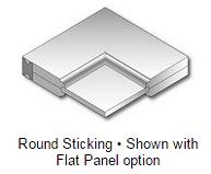 Round Sticking - Flat Panel