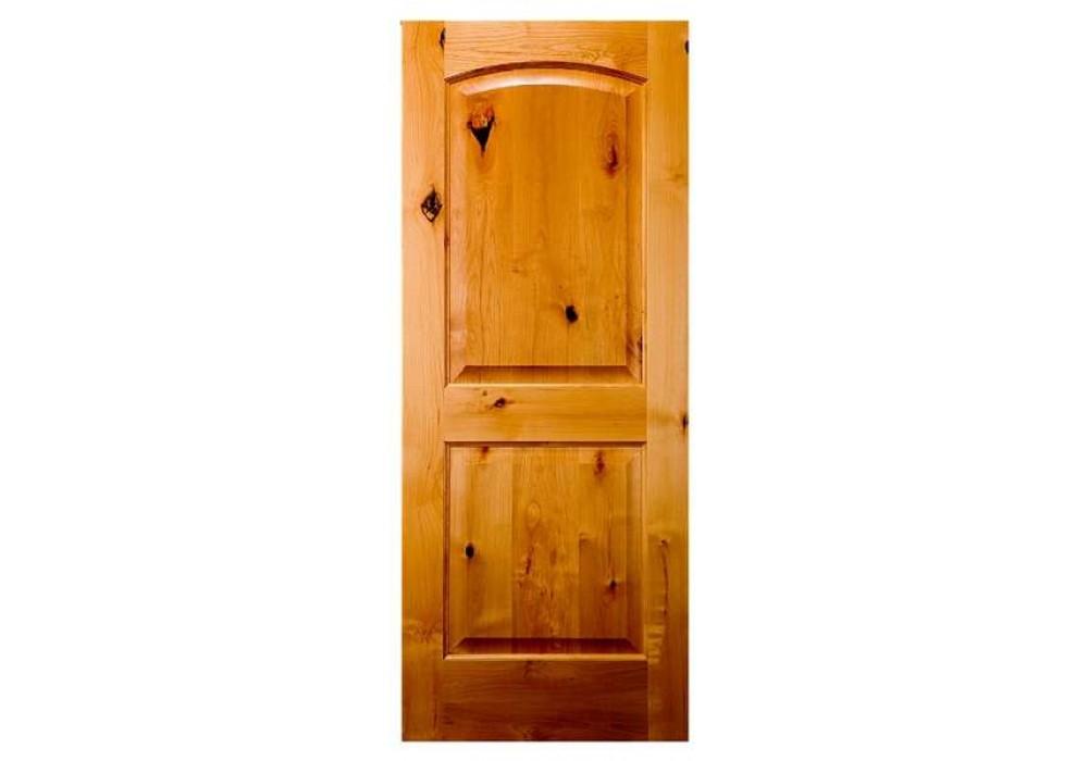 Knotty alder 2 panel arched top door clearance specials - Knotty alder interior doors sale ...