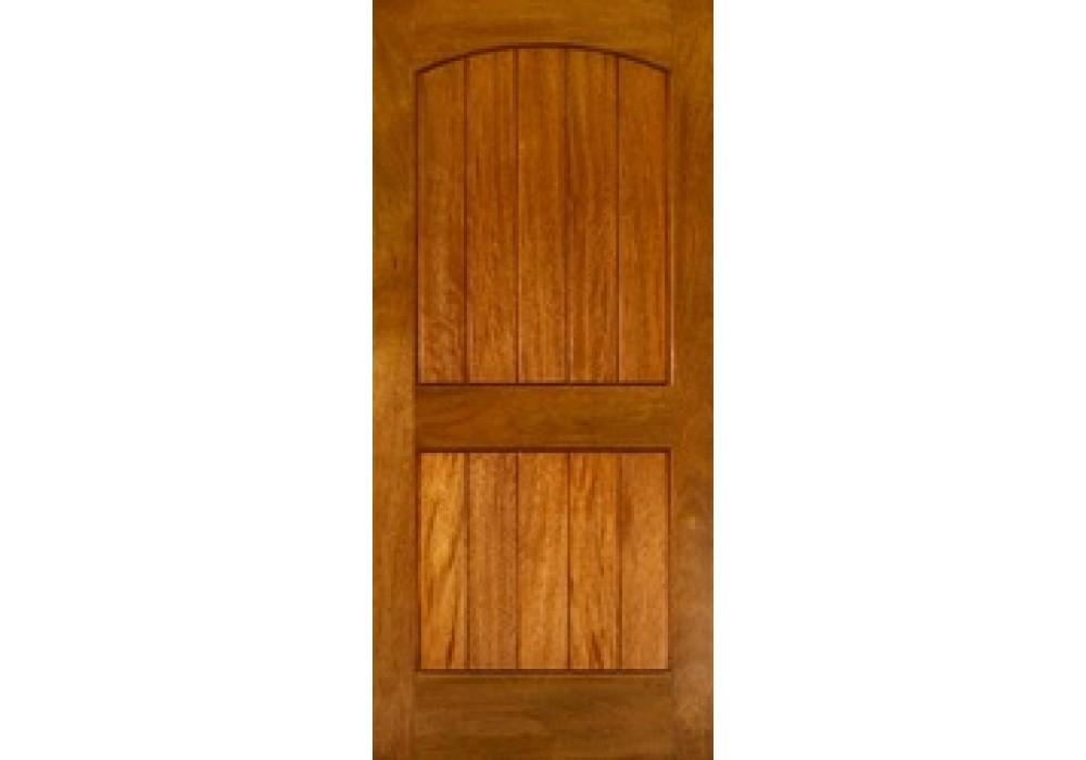 EXMA240   Mahogany 2 Panel Arch V Groove   ETO Doors