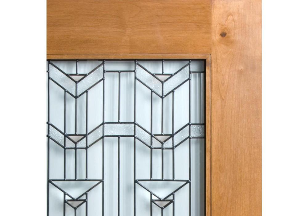 Knotty Alder Craftsman 1 Lite Door W Beveled Glass Eto Doors Exterior Doors