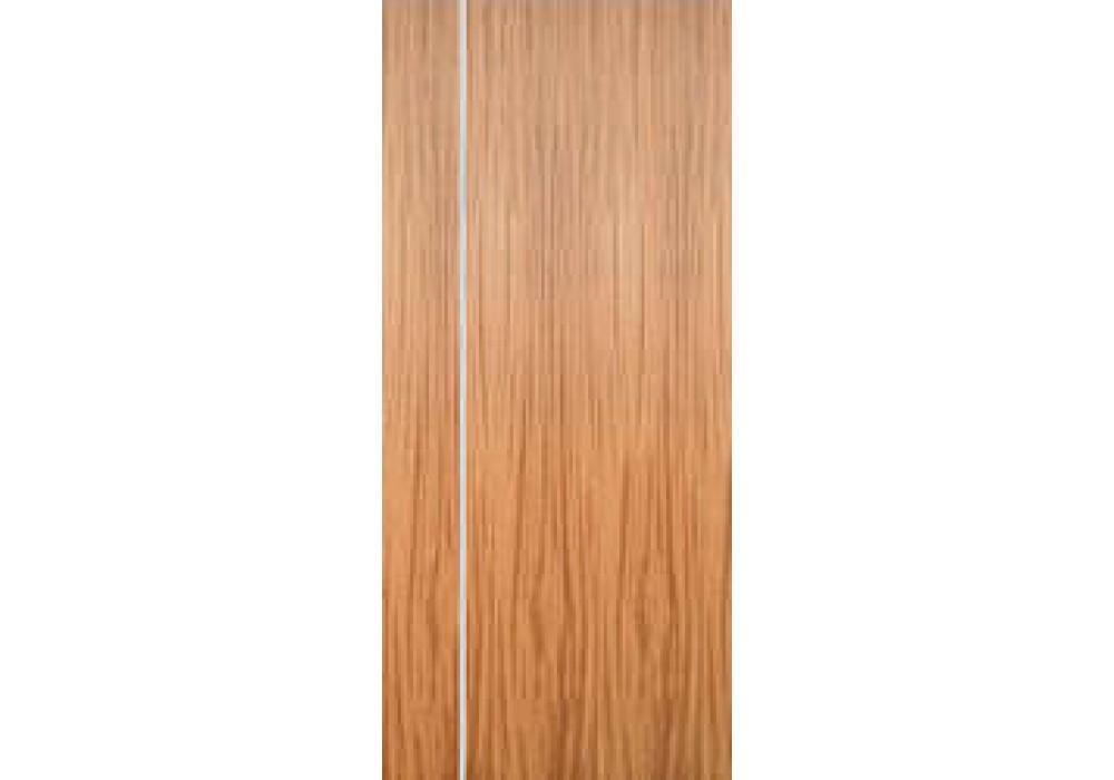 Mahogany Flush Doors With 1 Vertical Aluminum Strip Eto