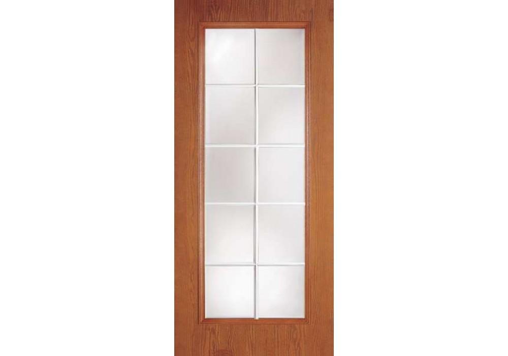 10 lite woodgrain french flush door w insert eto doors for 10 light door