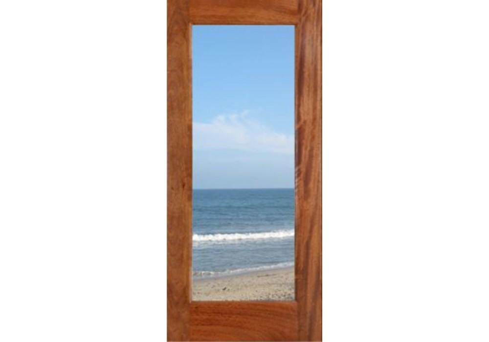 Fd1lmega mahogany 1 lite dual tempered clear glass mega for Mahogany french doors