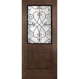 Columbia-Plastpro - Two Panel Rustic Wrought Iron Door