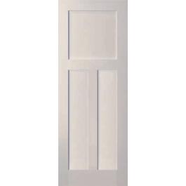 """Warren - 3 Panel White Primed Shaker Door (1-3/8"""")"""