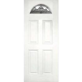 """DRW40CASHR1P - Erwin-Plastpro - CASTILE-PATINA TRUE WHITE OAK HALF ROUND LITE DOOR (1-3/4"""")"""