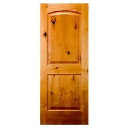 Knotty Alder 2 Panel Arched Top Door