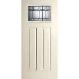 Argentine Therma Tru Smooth Star Sedona Top Lite-3 Panel Door