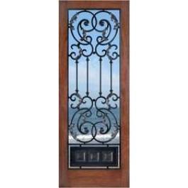"""FD1LAmbassador - Mahogany 1 Lite Door- Ambassador (1-3/4"""")"""