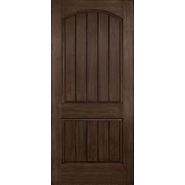 "DRA2A - Cordova-Plastpro - RUSTIC TWO PANEL ARCH PLANK DOOR - B (1-3/4"")"