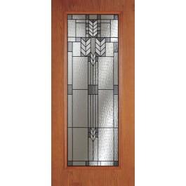 Spring Patina Woodgrain Full Lite Door