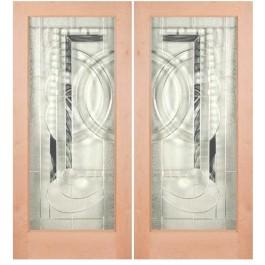 "KA1LEL200 - Knotty Alder 1 Lite Door- EL200 (1-3/4"")"