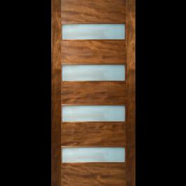 "Etiam - 4 Horizontal Lite Door with Laminate Glass (1-3/4"")"