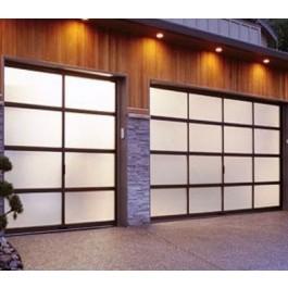 Full View Aluminum & Frosted Glass Garage Door