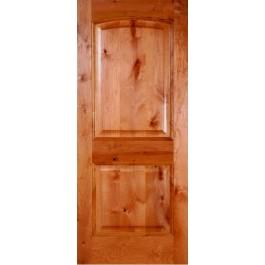 """KA230 - Knotty Alder 2 panel Arched Door (1-3/4"""")"""