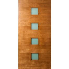 """Quadratum - 4 Square Lite Door with Laminate Glass (1-3/4"""")"""