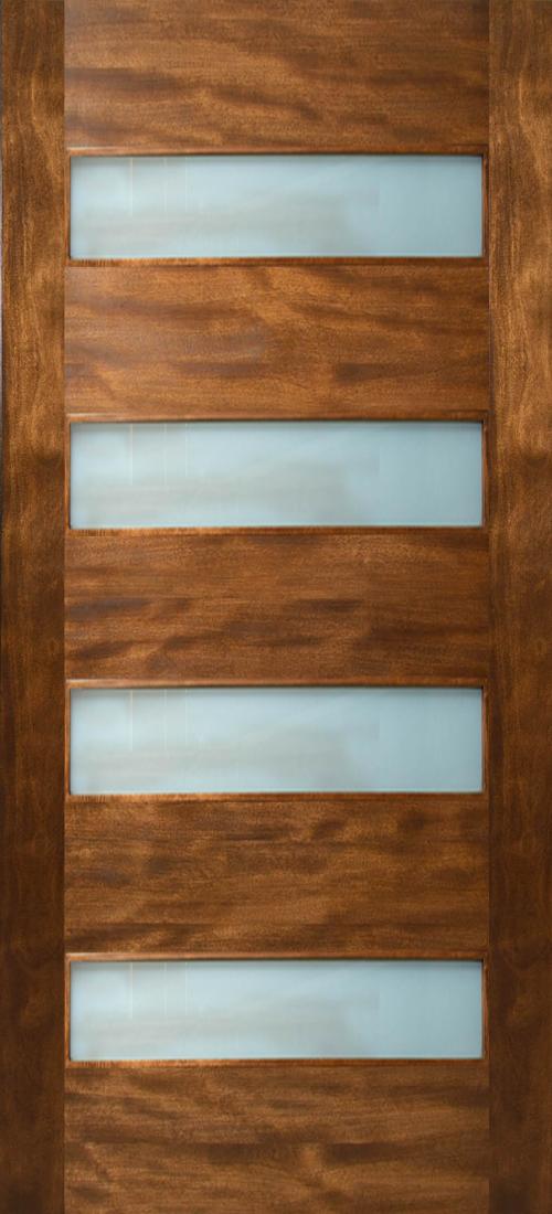 & Etiam - 4 Horizontal Lite Door with Laminate Glass (1-3/4\