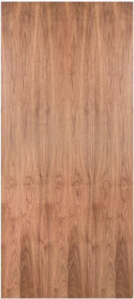 Walps20 Walnut Plain Sliced Flush Door 1 3 4 Quot