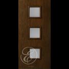 "FC531DAE - Escon 3 Square Vertical Even Lite Fiberglass Flush Door  with Cherry Grain (1-3/4"") Exterior Grade"