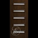 "FC551DAE - Escon 5 Rectangular Horizontal Even Lite Fiberglass Flush Door with Cherry Grain (1-3/4"") Exterior Grade"