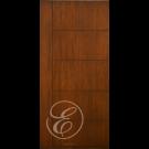 "FC566 - Escon One Vertical Stile with  5 Horizontal Even Panels Firberglass Door with Cherry Grain (1-3/4"")"