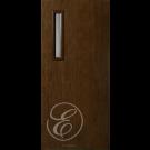 "FC591DAE - Escon 1 small vertical lite fiberglass flush door with Cherry Grain (1-3/4"") Exterior Grade  (Left or Right)"