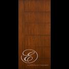 "FC866 - Escon One Vertical Stile with 6 Horizontal Even Panels Firberglass Door with Cherry Grain (1-3/4"")"