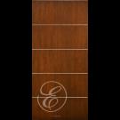 "FCA575 - Escon Horizontal Aluminum Bar Flush Fiberglass  Door with Cherry Grain (1-3/4"")  Exterior Grade"