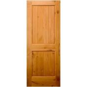 KNOTTY ALDER 2 PANEL V-GROOVE SQUARE TOP DOOR