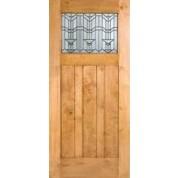 Knotty Alder Craftsman 1-Lite Door W/ Beveled Glass | ETO Doors