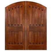 CostaSmeralda - Mahogany Double Doors with Clavos